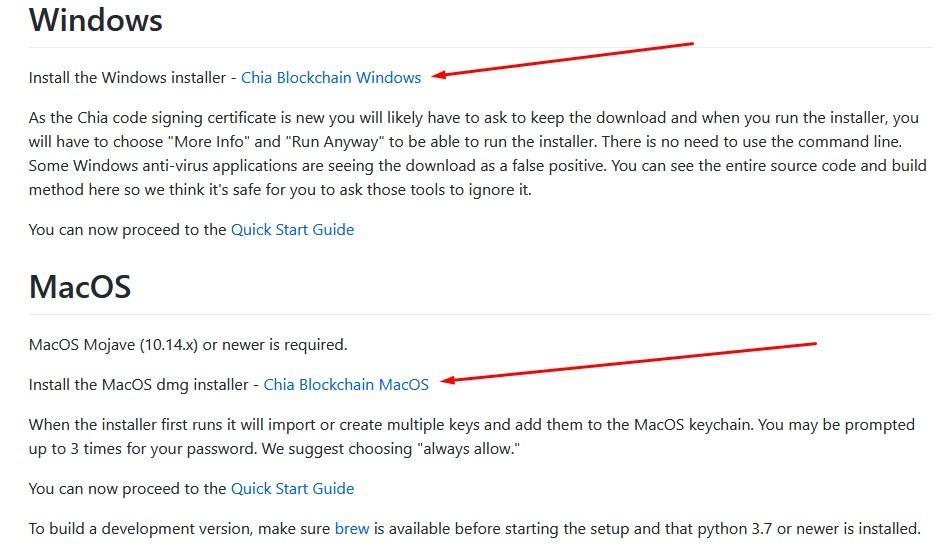 ссылки на скачку клиентов на windows и macos