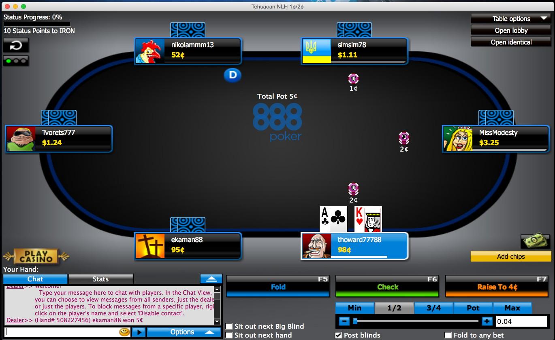 ТОП 3 онлайн покеров на реальные деньги - 888 Poker